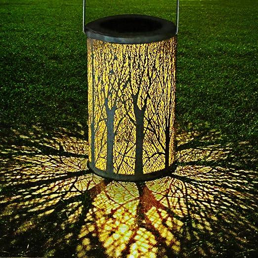 LED Luz Colgante Solar del Jardín, GolWof Farol Solar Exterior ...