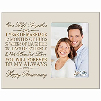 Amazoncom One Year Anniversary Gift Her Him Couple Custom Engraved