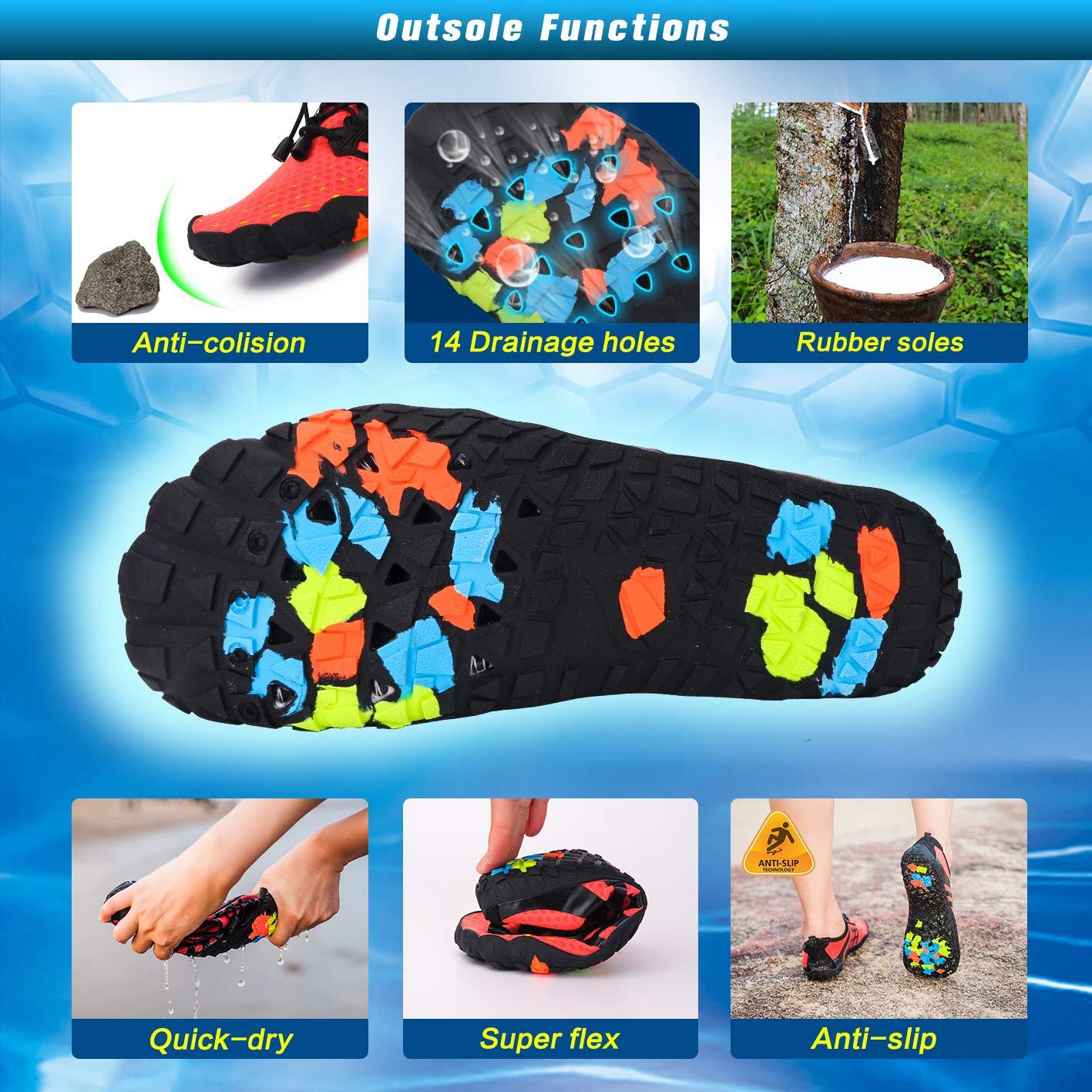 Ansbowey/® Badeschuhe Herren Strandschuhe Damen Wasserschuhe Schnell Trocknend Slip On Schwimmschuhe Leicht Aquaschuhe rutschfeste Barfu/ß Schuhe