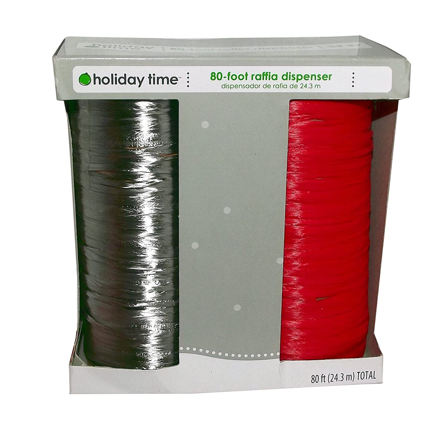Amazon.com: 80-Ft. Raffia Dispenser Ribbon (Red/Silver): Health & Personal Care