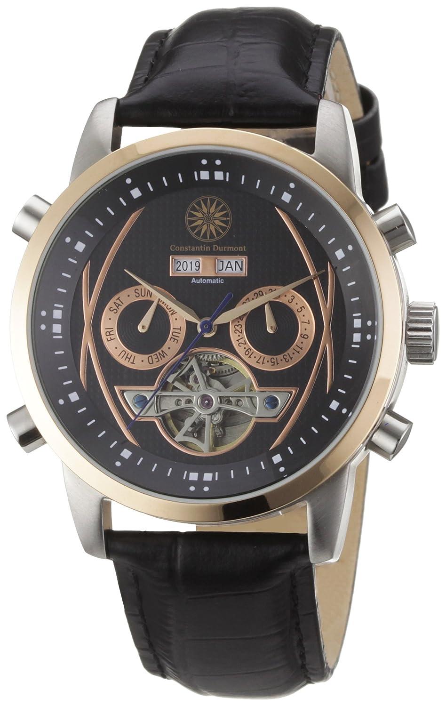Constantin Durmont CD-BOUS-AT-LT-STRG-BK - Reloj analógico automático para Hombre con Correa de Piel, Color Negro