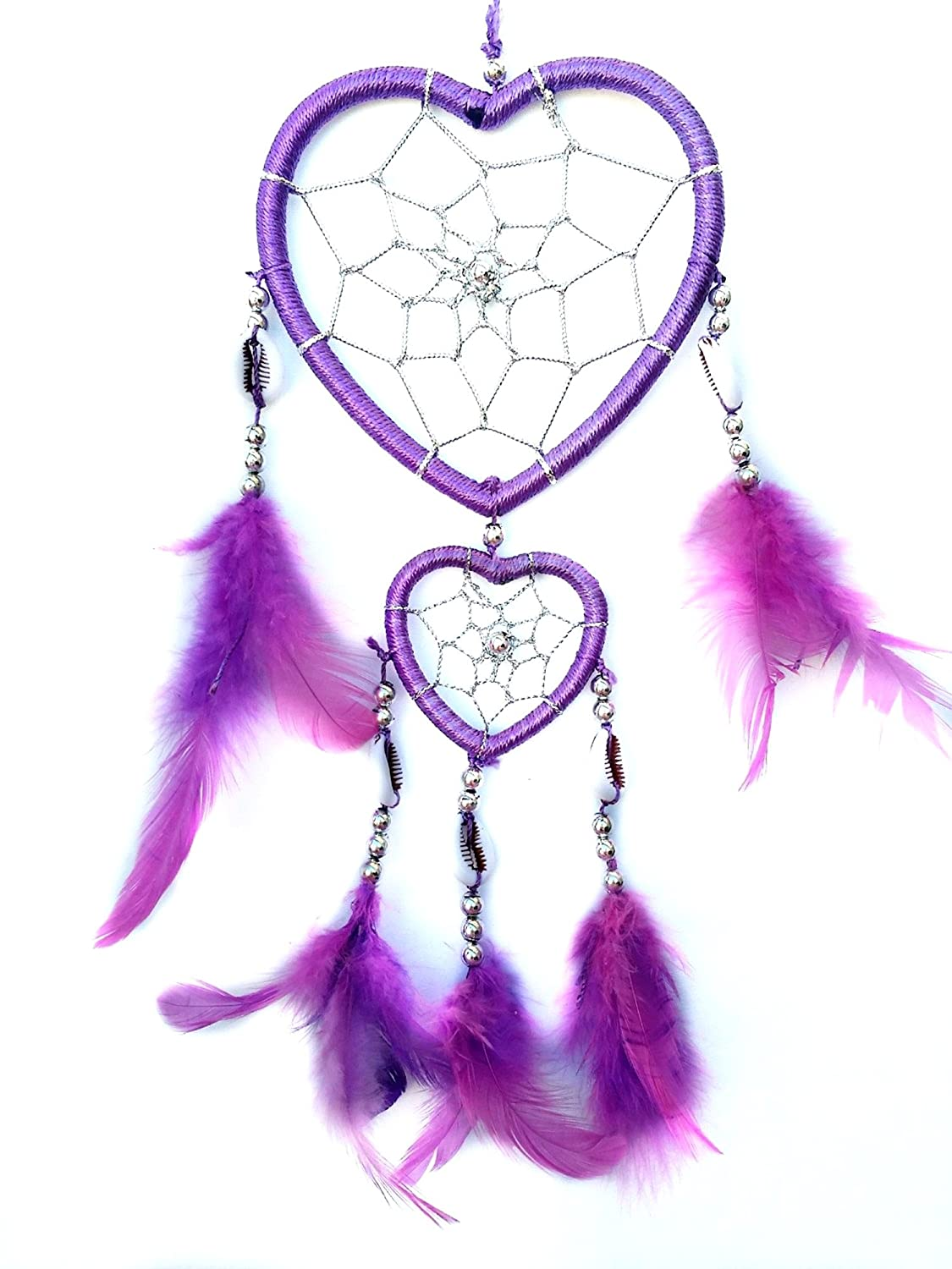 Purple Heart Shaped Dream Catcher