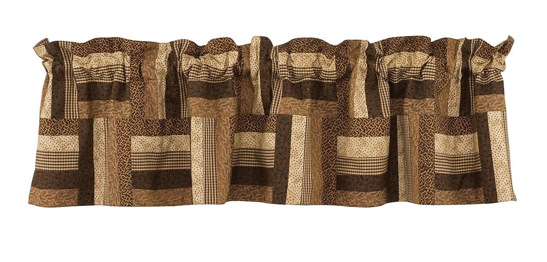 Park Designs Shade of braun gefüttert Patch Querbehang - 152 -4 x 35 -6 cm