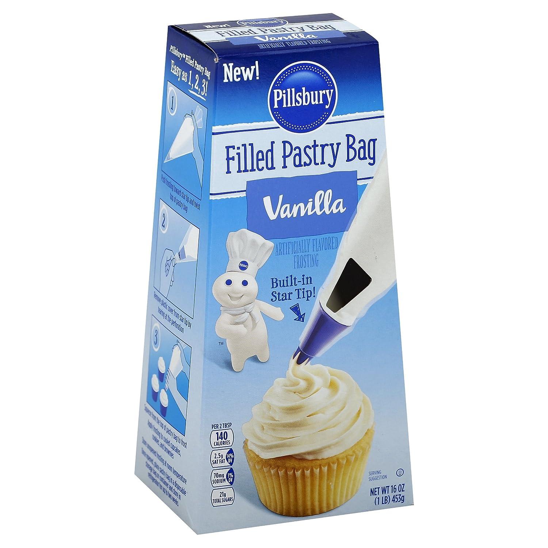 Pillsbury Pastry Bag Frosting, Vanilla, 16oz