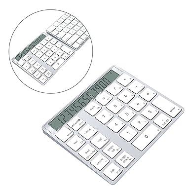 Teclado Numérico y Calculadora Bluetooth Alcey con Batería de Litio Recargable de 6 Meses para Teclado