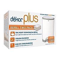 Dekor Plus Diaper Pail Refills | 2 Count | Most Economical Refill System | Quick...