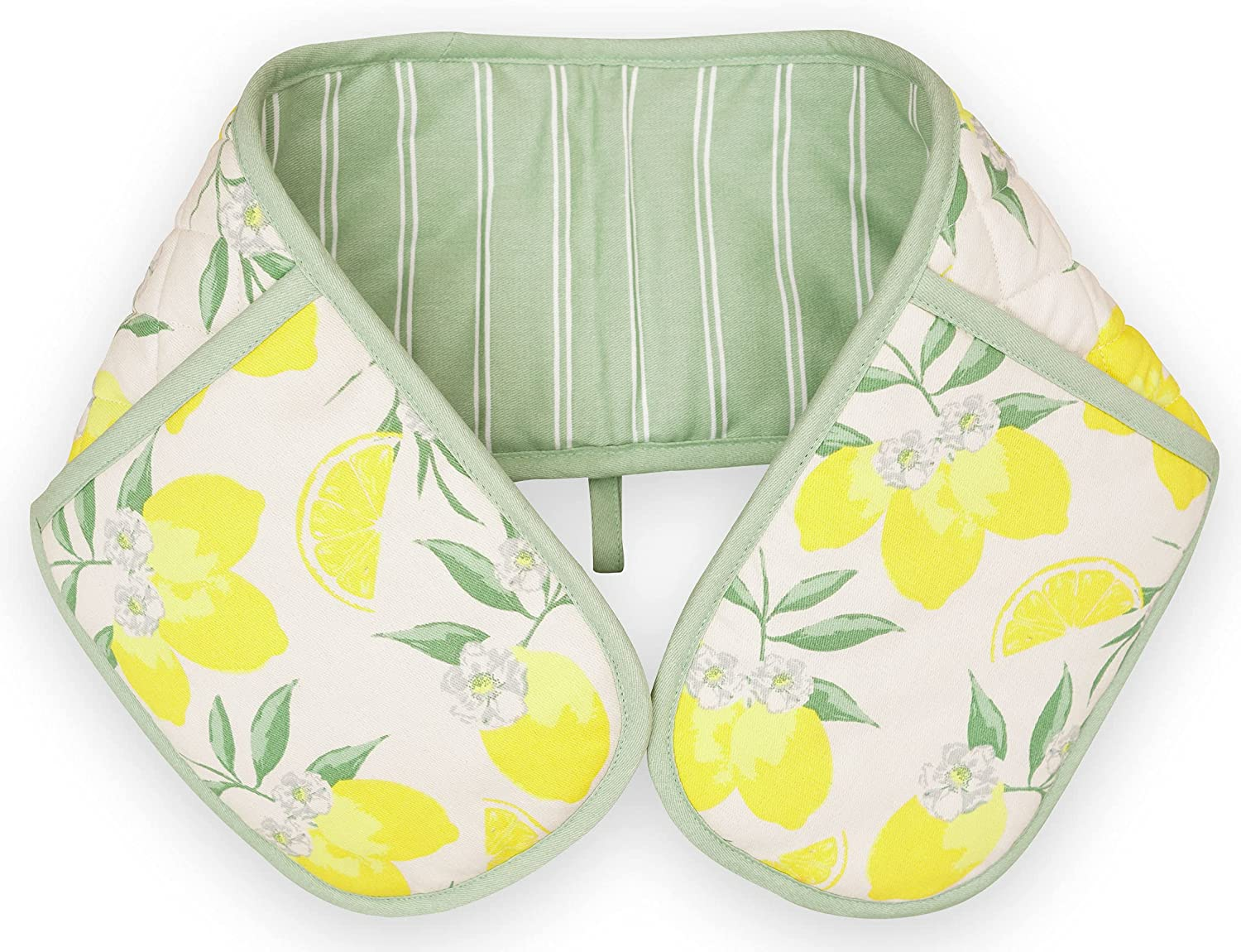 DAILY HOME ESSENTIALS - Premium Cotton (Double Oven Mitt 1 Pack, Yellow) 7x36 Inches, Suits for Holding, Lifting and Placing Pans, Utensil & Supports Kitchen Cooking, Baking, BBQ.