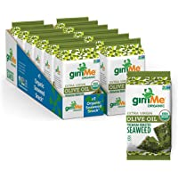 gimMe Organic Roasted Seaweed, Extra Virgin Olive Oil, Non GMO, Gluten Free, Keto, Paleo Healthy on-the-go Snack for…
