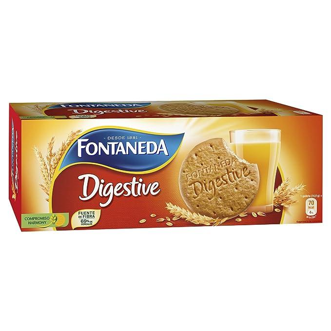 Fontaneda - Digestive - Galletas de avena - 400 g - [Pack de 5]