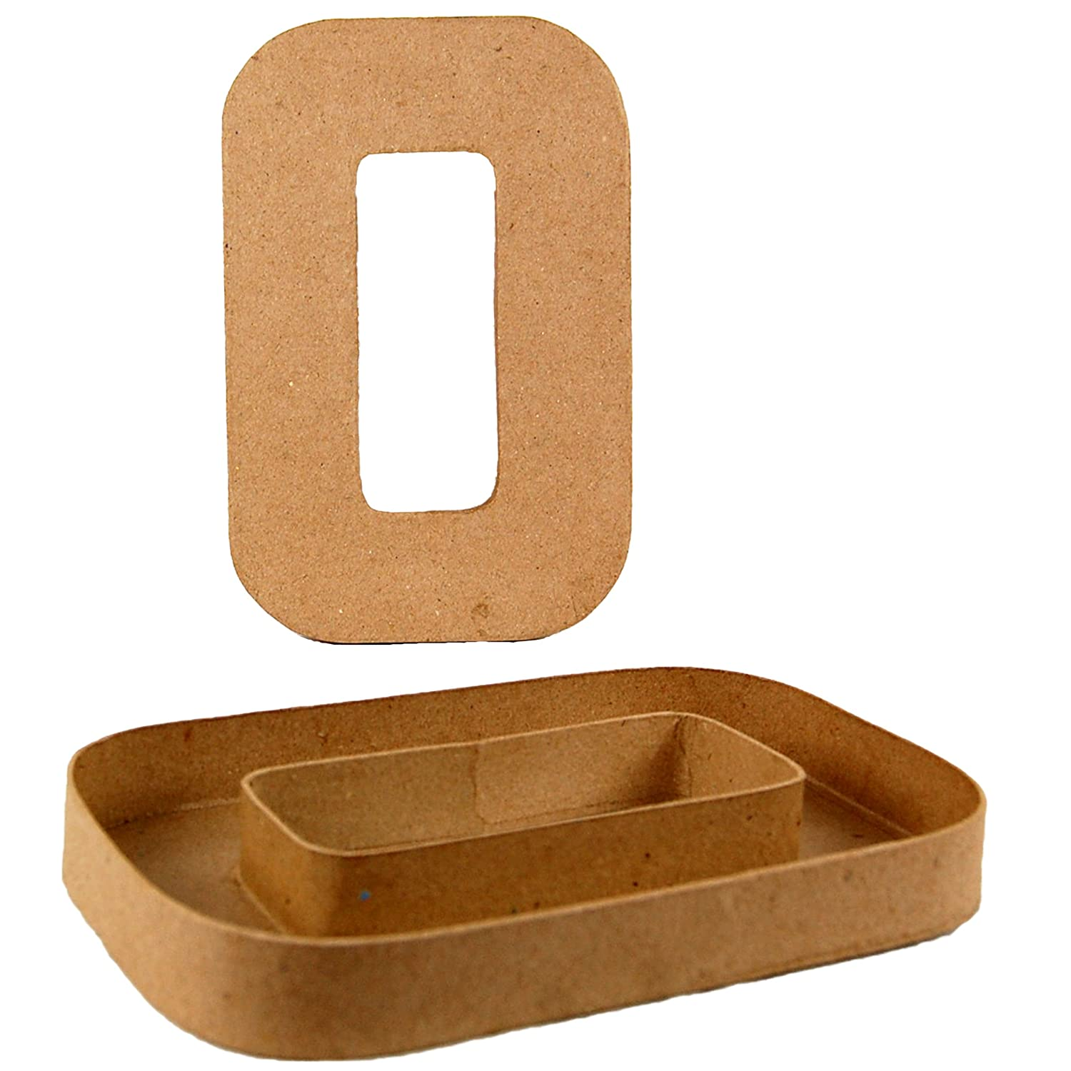 Country Love Crafts 8.25-inch/ 20.5cm Letter O Shaped Box Papier Mache CLSNGP2315