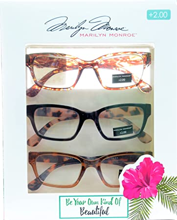 bf775e9c740f Image Unavailable. Image not available for. Color  Marilyn Monroe Fashion  Multi Tortoise Reading Glasses 3 Pack ...