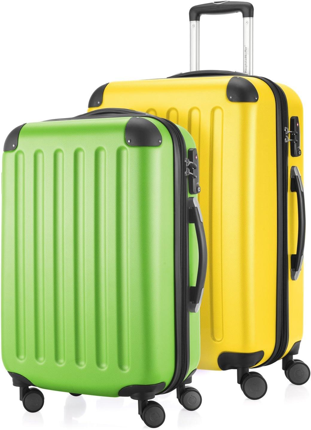 HAUPTSTADTKOFFER Conjunto de 2 maletas, 65 cm, 131 L, multicolor (Apfelgrün-Apfelgrün)