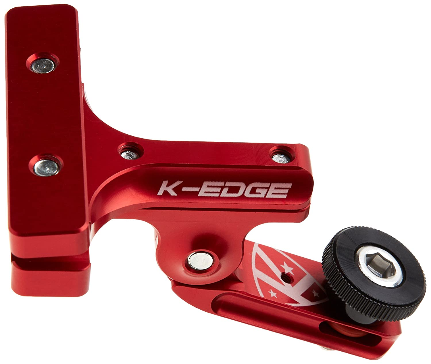 "Black K-EDGE GO BIG Pro Saddle Rail Universal 0.25/""x20 Camera Mount"