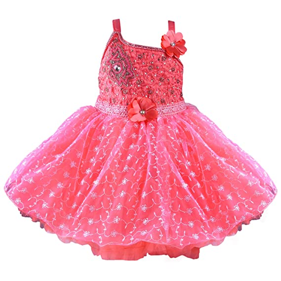 a25c73ddd Wish Karo Baby Girls Net Party Wear Frock Dress - (bx59 - Pink - 18 ...