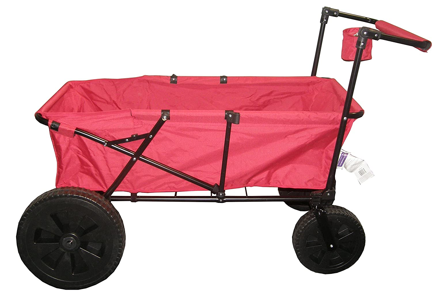 Amazon.com : Impact Canopy Maxima Folding Wagon Collapsible Utility Beach Cart  Wagon (Red) : Garden U0026 Outdoor