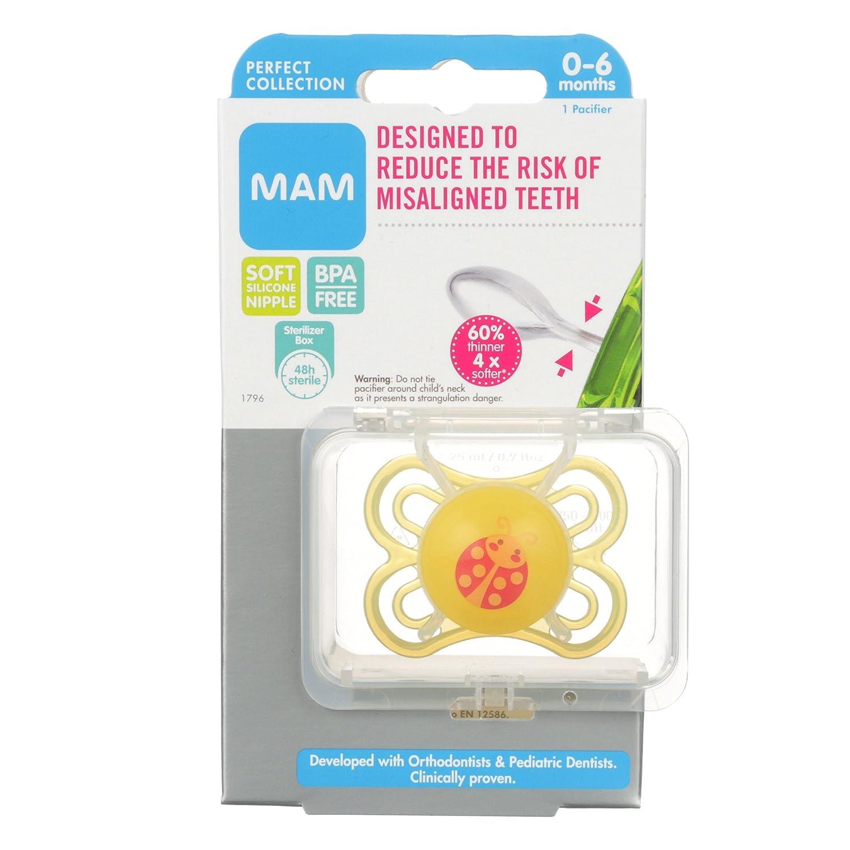 Amazon.com: MAM Perfect Chupete de bebé, Unisex, 0 – 6 meses ...