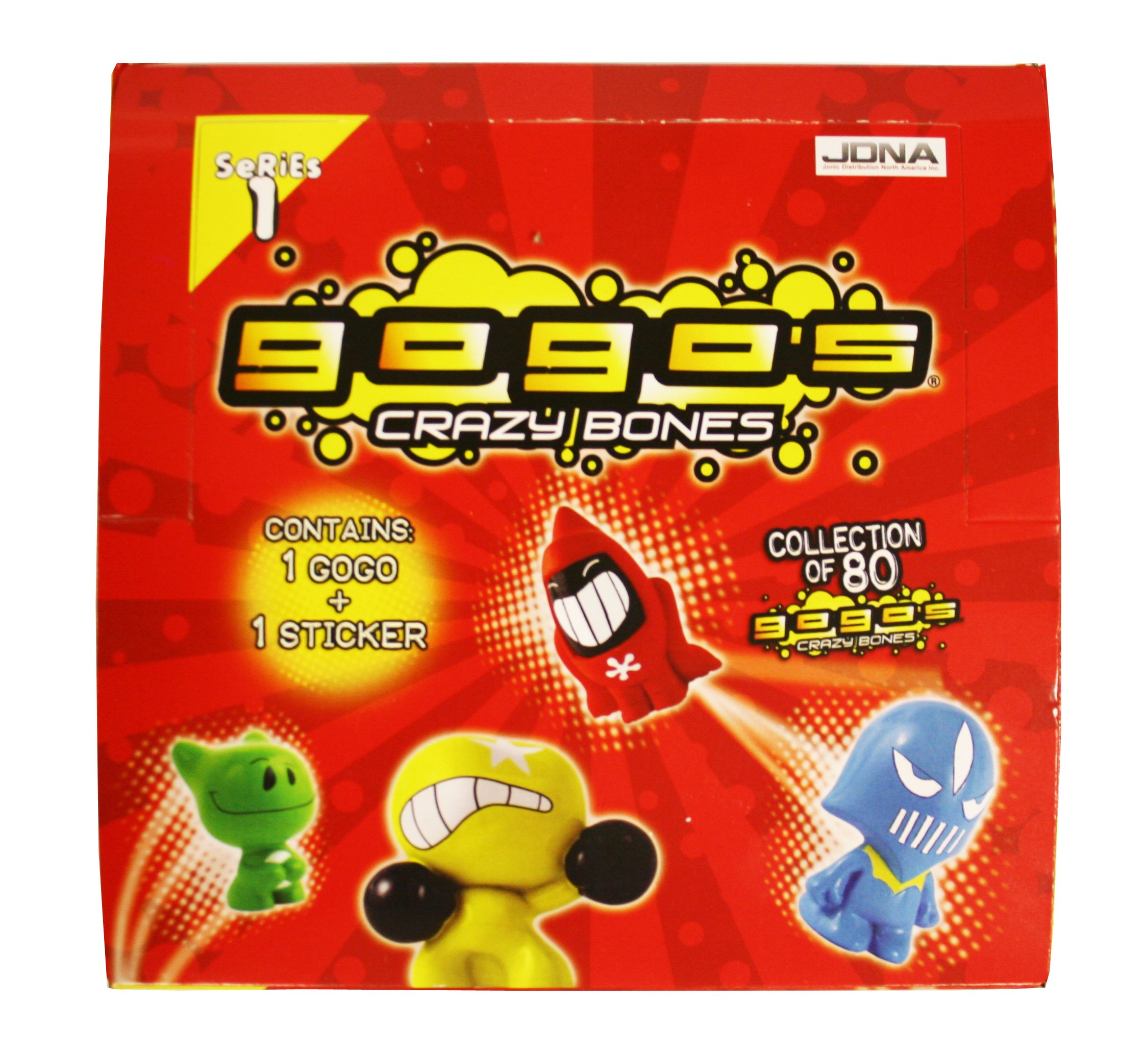 Gogo's Crazy Bones Series One 45 Pack (1 Gogo And 1 Sticker) Box by JDNA Inc.
