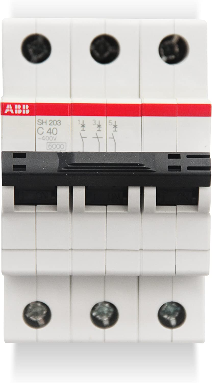 /Leitungsschutzschalter sh203-c40/3-polig 40/A Kurve C 6/kA abb-entrelec SH200/