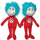 Manhattan Toy Dr. Seuss Thing 1 and Thing 2 Plush Toy Set