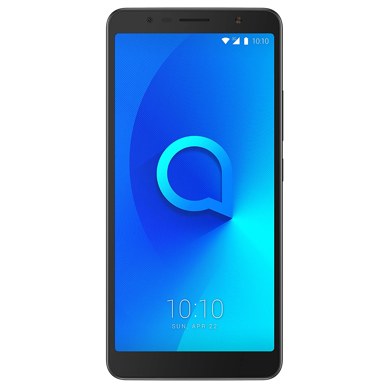 "Alcatel 3C Smartphone da 16 GB, Dual SIM, Display da 6"" 18:9, Nero"