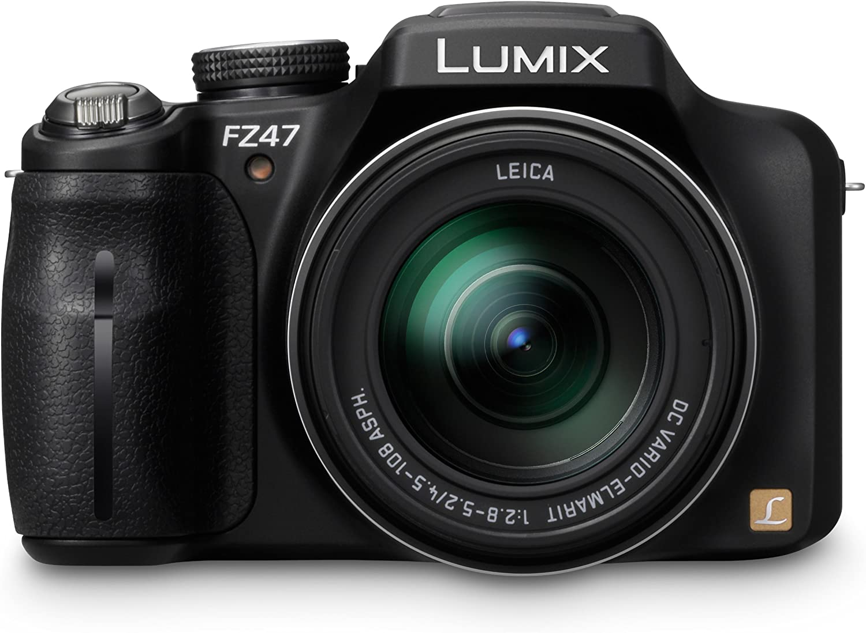 Panasonic Lumix DMC-FZ47K 12.1 MP Digital Camera with 24xOptical Zoom - Black (OLD MODEL)