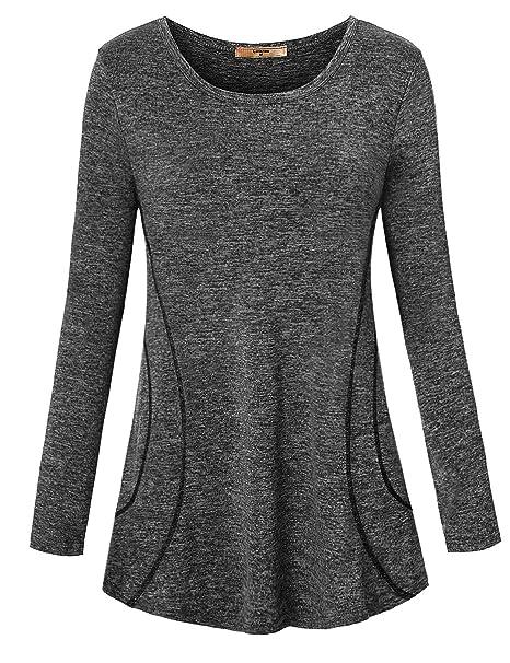 b9acd209ca0ff Luranee Womens Yoga Running Tops Short Sleeve Crew Neck Casual Loose Gym  Shirts