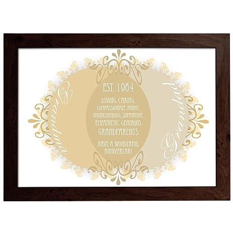 personalised grandparents venn diagram poster a3 framed