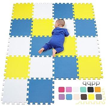 de Dryzem Juego de alfombras de goma EVA suave con bolsa de transporte Alfombras encastrables para juego de niños.