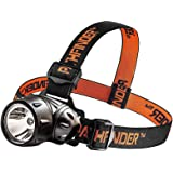 PATHFINDER XP-E Q4 CREE LED Headlamp Headlight - Water Resistant - 3 Modes of Operation, Head Safety Lamp, Garage Workshop Garden Flashlight, Head Torch for Biking, Cycling, Climbing, Camping, Hiking, Fishing, Night Reading, Riding, Dog Walking and other Indoor and Outdoor Activities - Adjustable Head Strap - 135 Degrees Adjustable Beam Angle - 100,000 Hours LED lifetime (in RETAIL PACKAGING) - BLACK