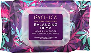product image for Pacifica Beauty Balancing Hemp Makeup Removing Wipes for All Skin Types, Especially Oily, Hemp & Lavender, Vegan & Cruelty-Free, 30 ct.