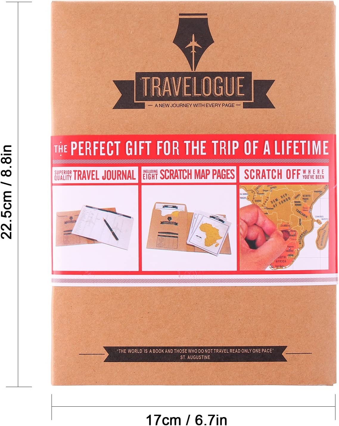 ONEVER Travelogue Scratch Map Page Travel Journal Tourist Notebook ...