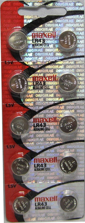 20 Maxell Lr43 AG12 186 Alkaline Batteries New Hologram Packaging