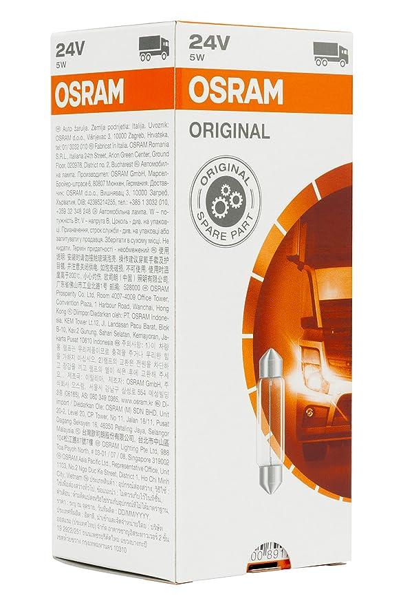 Osram O6424 Original 6424 SV8,5-8 24V 5W Set de 10: OSRAM: Amazon.es: Coche y moto
