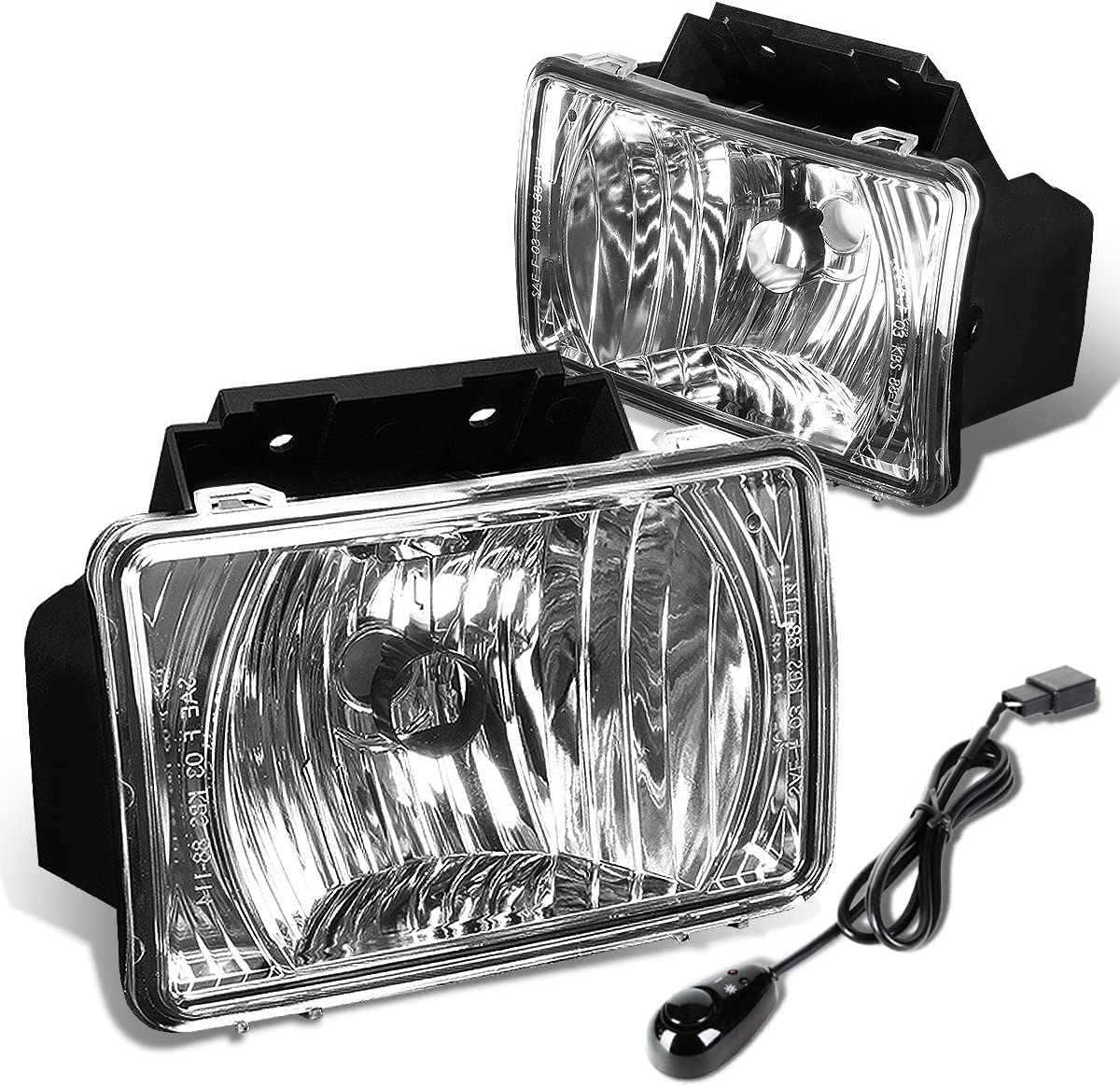 Driver /& Passenger Side DNA Motoring FL-T050-CH Fog Light