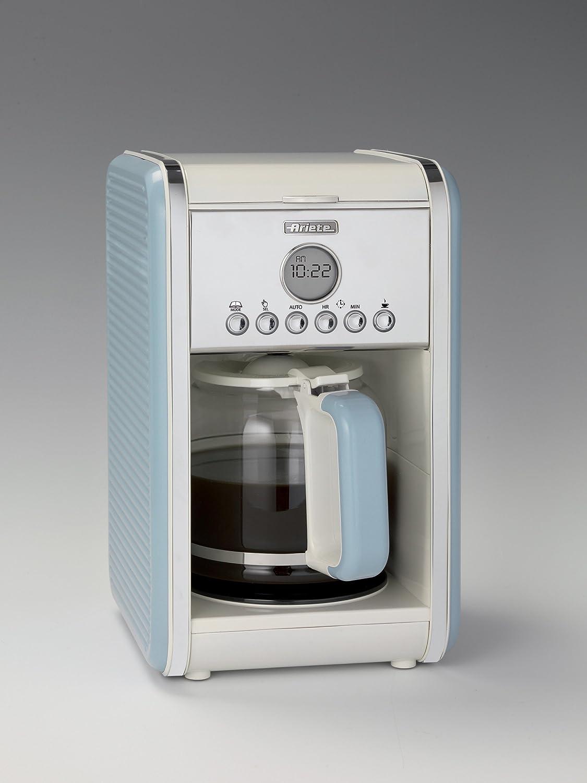 Ariete 1342 Cafetera de goteo vintage, 2000 W, 2.1 litros, Acero Inoxidable, Azul: Amazon.es: Hogar
