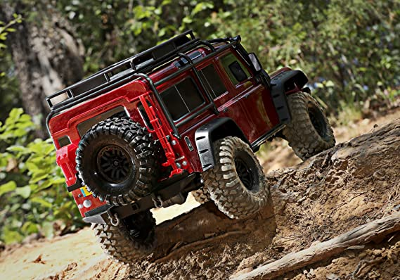 TRX-4 LAND ROVER DEFENDER ROUGE - TRAXXAS - TRX82056-4-RED ...