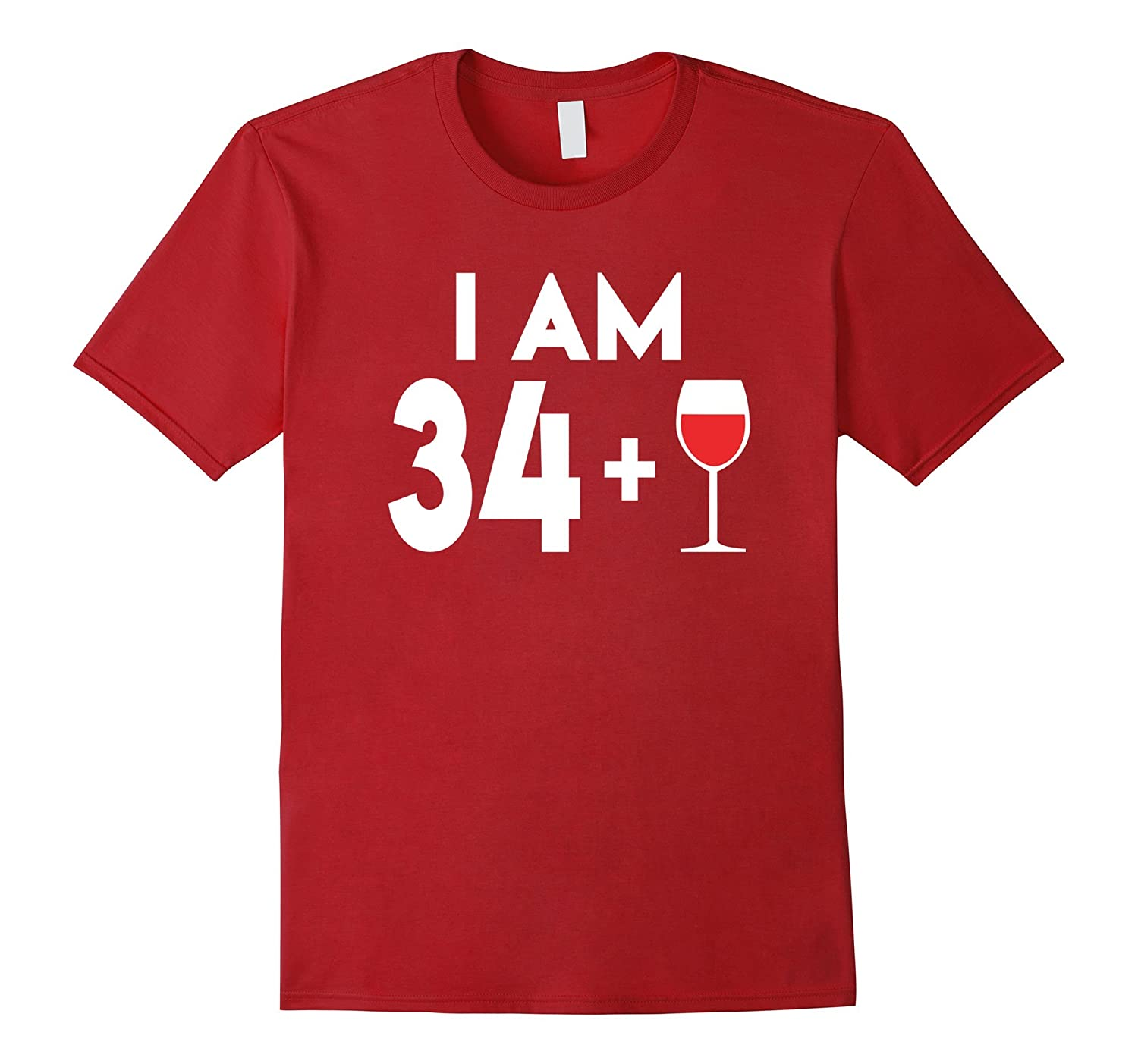 Happy 35 Years Old Wine Alcohol Birthday Gift T Shirt Gm