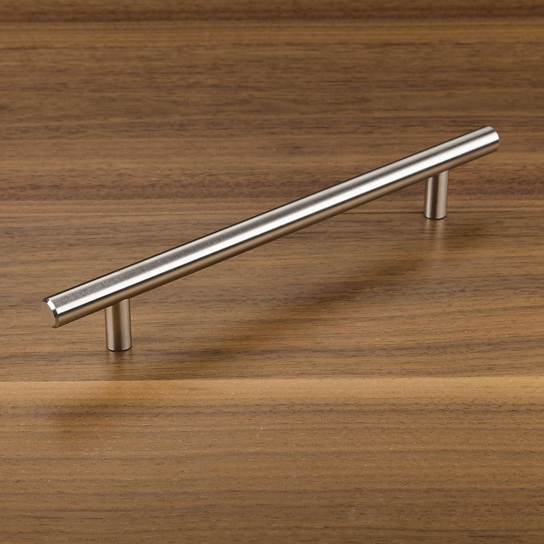 10 x SO-TECH/® Tirador de Mueble Manija Barra G17 Tubo de Acero Inoxidable Distancia Agujeros 96 mm