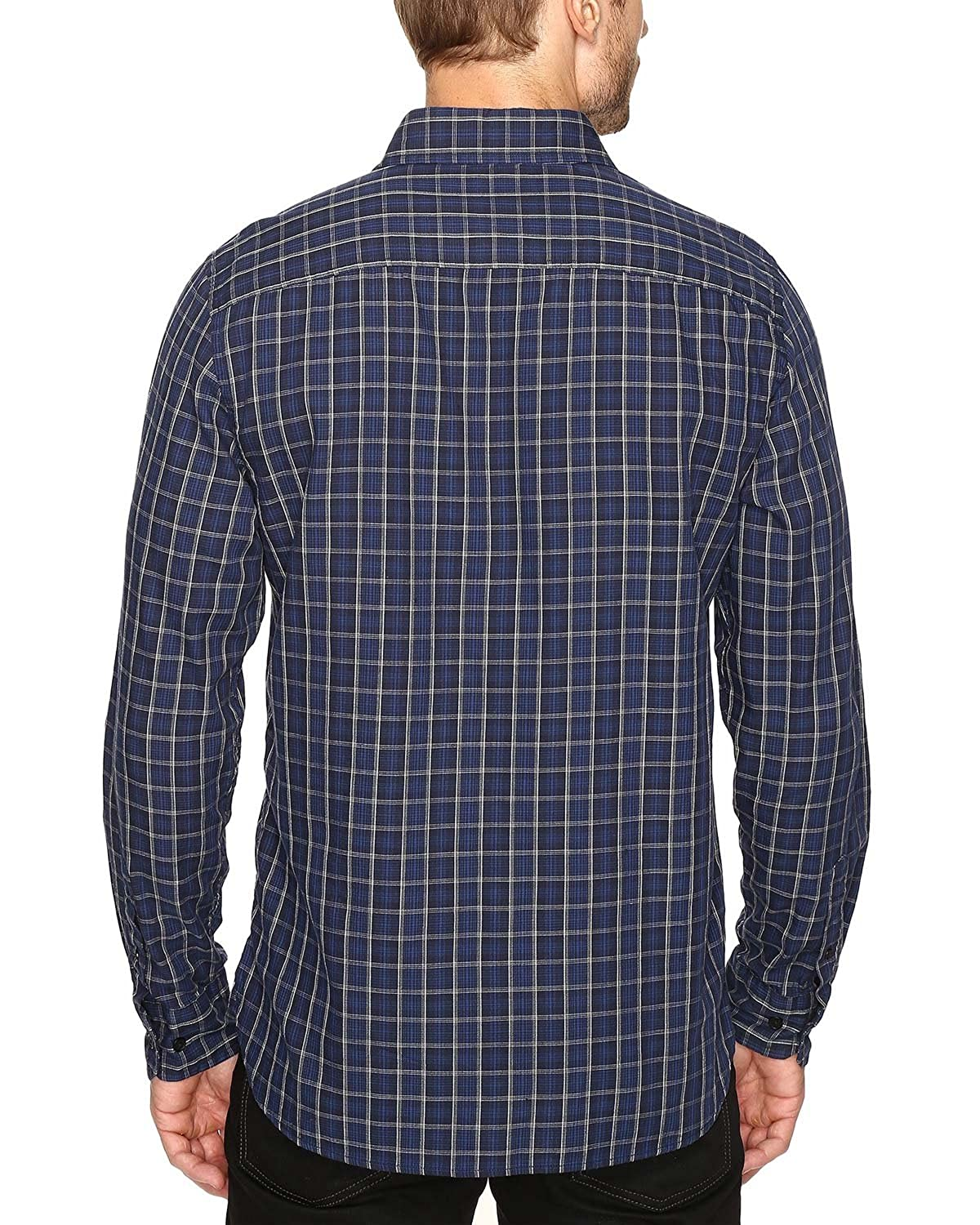 Nautica Mens Long Sleeve Small Plaid