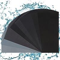 50 stuks schuurpapier, droog en nat schuurpapier, schurend droog nat waterdicht schuurpapier, 320 tot 3000 verschillende…