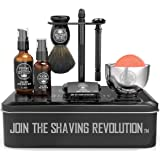 Luxury Safety Razor Shaving Kit - Includes Double Edge Safety Razor, Stand, Bowl, After-Shave Balm, Pre-Shave Oil…