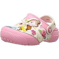 Crocs Unisex-Child Girls 204783 Kids' Fun Lab Princess Belle 4 M US Toddler Peony Pink