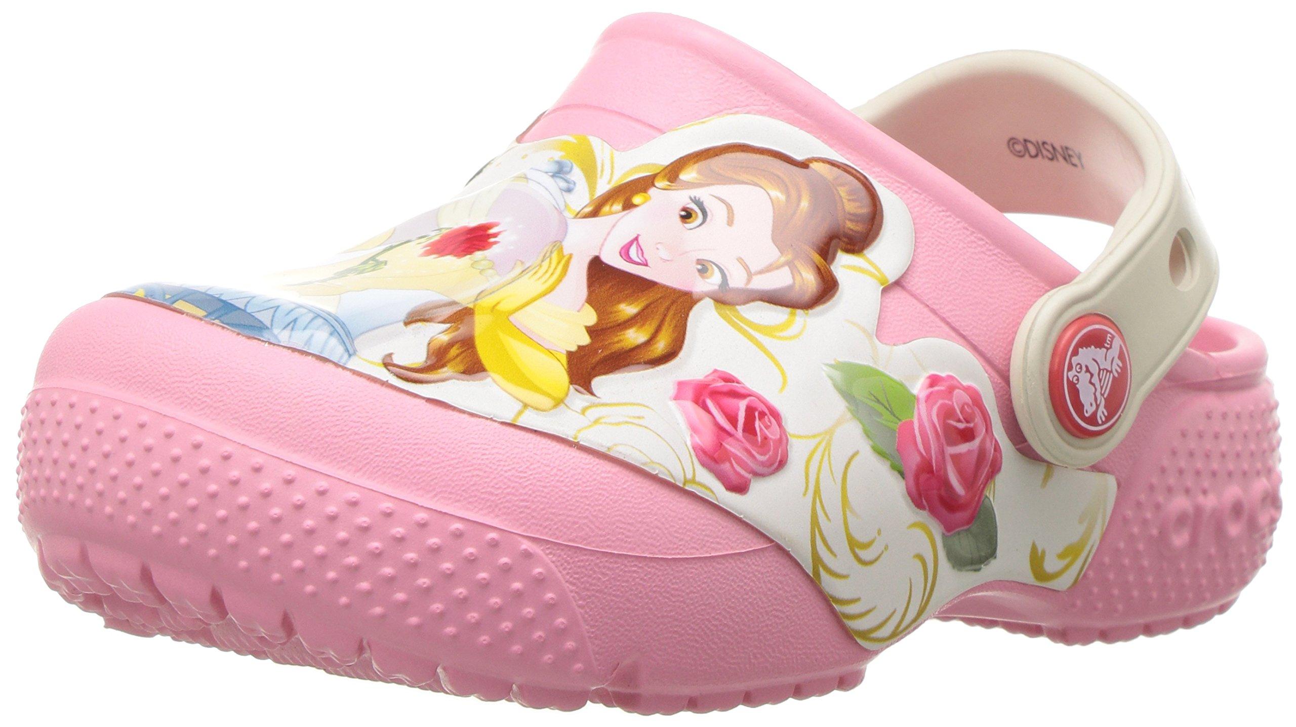 Crocs Kids' Fun Lab Princess Belle Clog, Peony Pink, 3 M US Little Kid