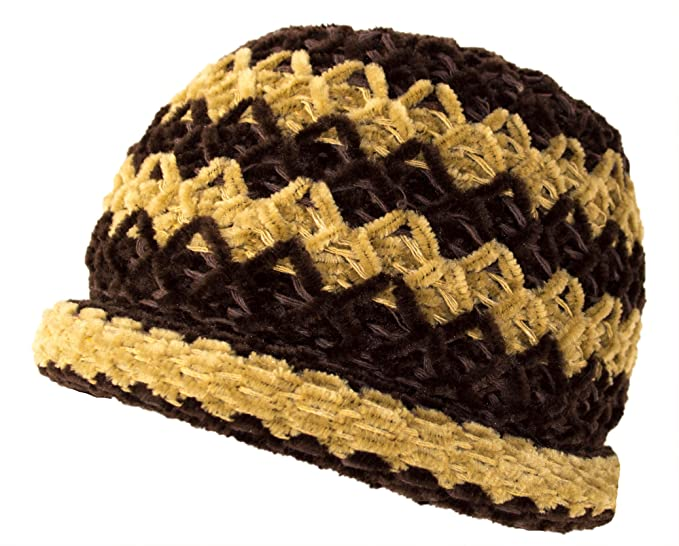 567755416c1 Roll Brim Chenille Knitting Hat