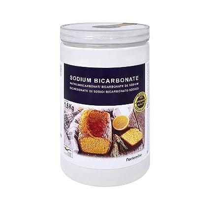 NortemBio Bicarbonato de Sodio 1,6 kg. Grado Alimentario Producto CE.