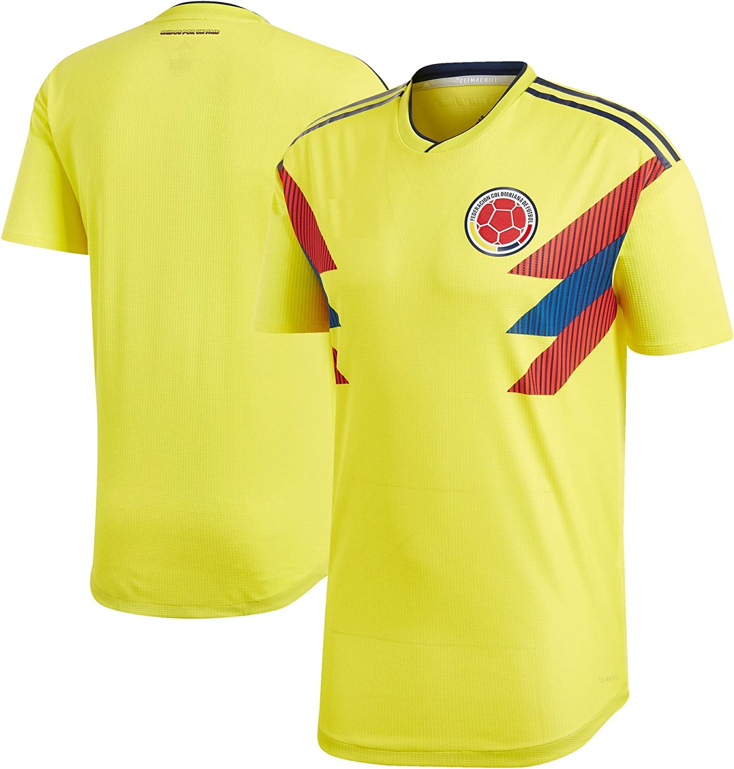 Kitbag Colombia Home Men's Soccer Short Sleeve Jersey T-Shirt World Cup Adult Sizes ? Best Gift for Soccer Fans