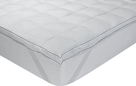 media- alta durezza Classic Blanc 80 x 190 altezza 3 cm letto da 80 Topper // sovramaterasso fibra comfort Tutte le misure