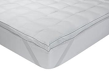 Classic Blanc - Topper, sobrecolchón extramullido de plumón de oca, algodón, 150 x 200 cm, cama 150 (Todas las medidas): Amazon.es: Hogar
