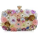 Milisente Women Evening Bag Flower Sequins Beaded Handbag Clutch Purse for Wedding