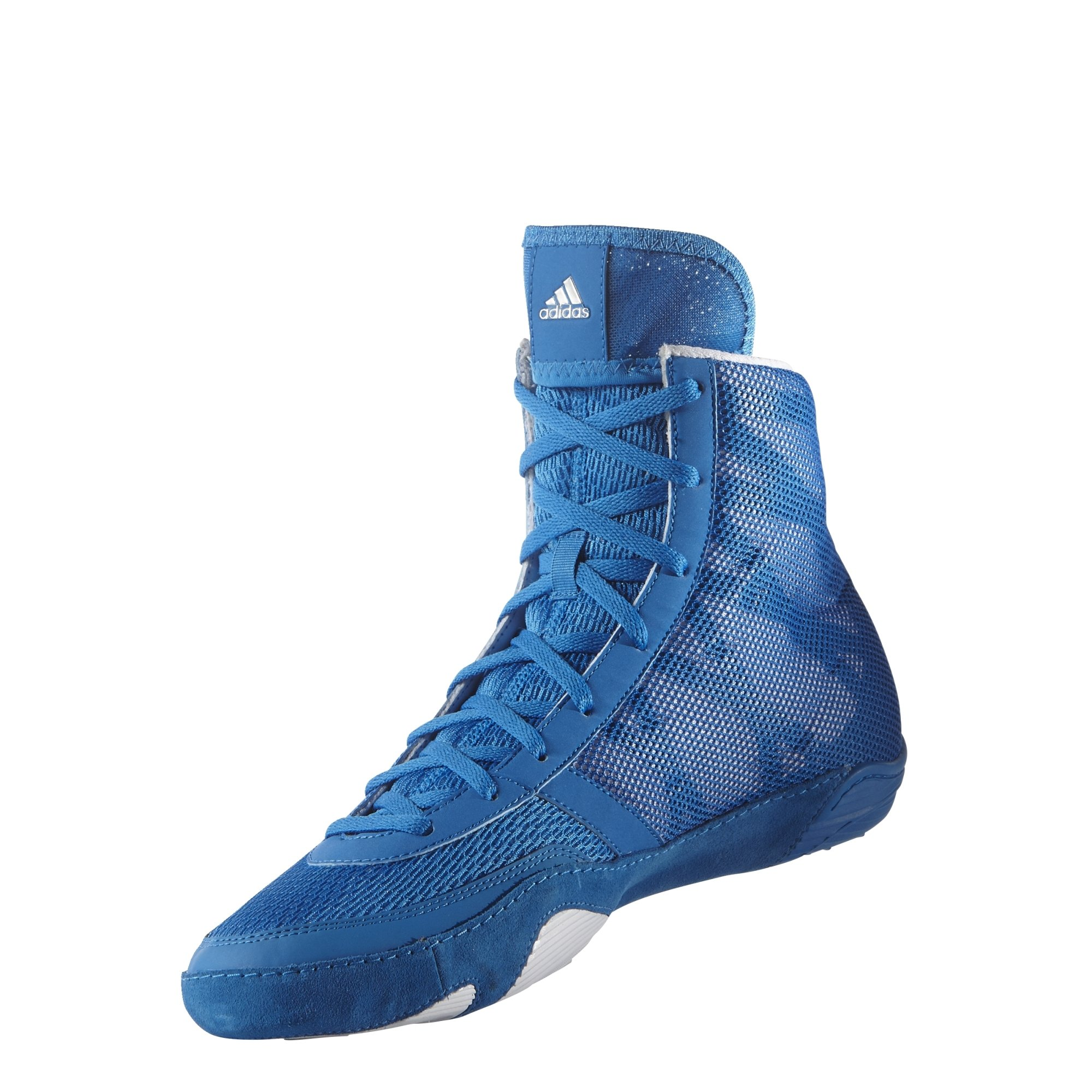 Adidas Pretereo III Wrestling Shoes - Royal/Silver/White - 7.5 by adidas